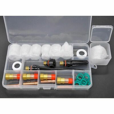 (1set) TIG Welding Stubby Gas Lens #12 Pyrex Cup Kit For Tig WP-17/18/26 Torch M • 31.65£