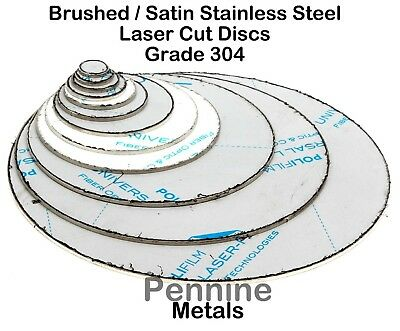 STAINLESS STEEL Blank Round DISCS 304 Grade Sheet Metal Precision Laser Cut • 3.30£