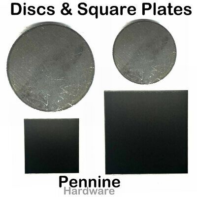 MILD STEEL Sheet ROUND Discs Or SQUARE Plates Guillotine & Laser Cut Fly Press • 3.30£