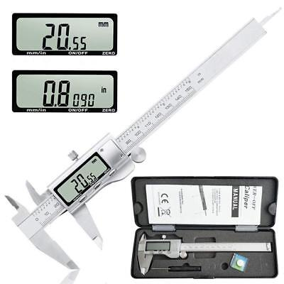 Electronic Digital Caliper, 0-150mm / 0-6'' Metric Inch Conversion Measure Tools • 28£