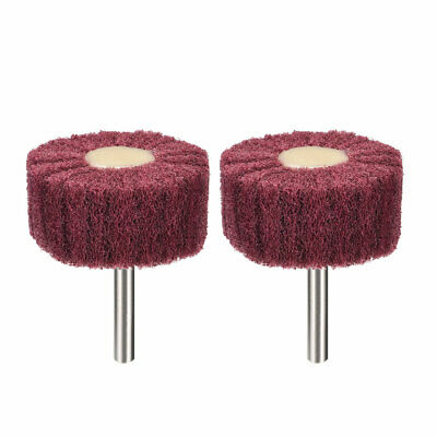 2 Inch Abrasive Wheel Buffing Polishing Wheel Red With 1/4 Inch Shank 2pcs • 5.26£