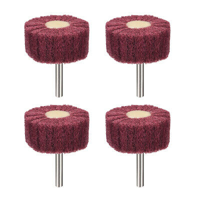 2 Inch Abrasive Wheel Buffing Polishing Wheel Red With 1/4 Inch Shank 4pcs • 8.69£