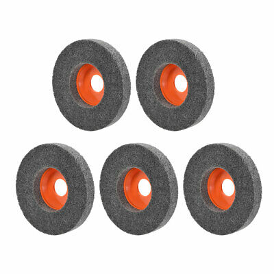 4.5 Inch Polishing Wheel Buffing Pad Disc For 100 Angle Grinders Orange 5pcs • 11.64£