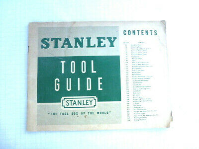 STANLEY TOOL GUIDE 1951  How To Use & Care For Stanley Tools • 25£