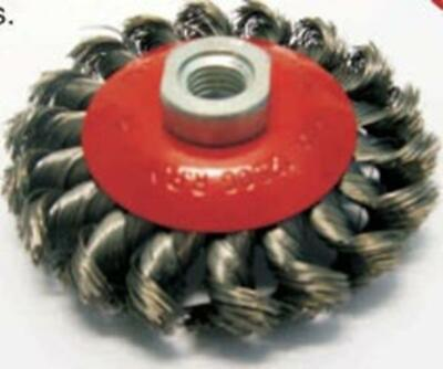 Conical Brush Twist Knot 100mm X M14 Wire Wheels And Brushes • 9.70£