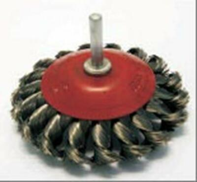 Conical Brush Twist Knot 100mm X 6mm Shaft Wire Wheels And Brushes • 9.15£