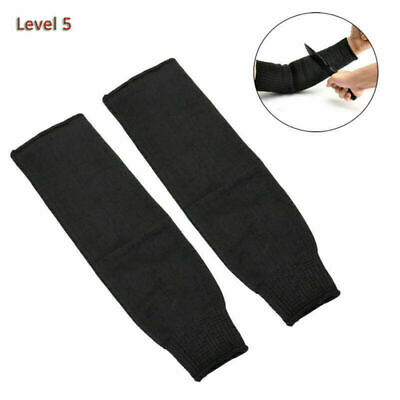 Pair Steel Wire Cut Proof Anti Abrasion Stab Resistant Safety Armband Sleeves • 10.25£