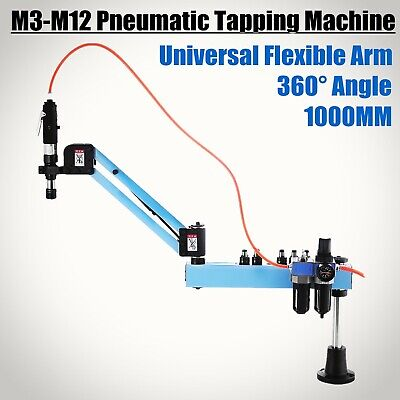 Vertical Pneumatic Tapping Drilling Machine M3-M12 Quick Change High Accuracy • 360.52£