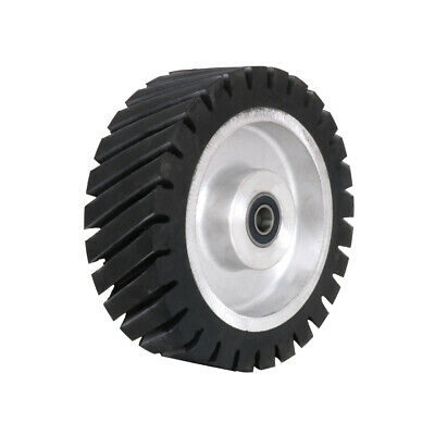 150mm Rubber Serrated Belt Grinder Contact Wheel For Polishing Abrasive Tool 6  • 41.78£