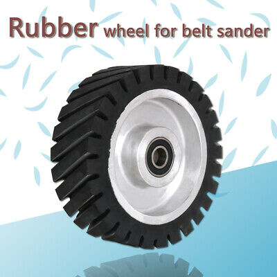 150 200mm Serrated Rubber Bearing Contact Wheel For Belt Grinder Polishing Metal • 43.98£