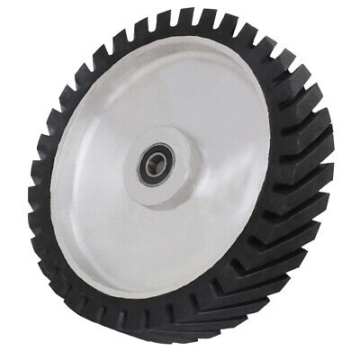 Serrated Rubber Bearing Contact Wheel For Sanding Belts Grinder 250 300 350mm • 66.48£