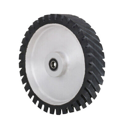 250mm Serrated Sanding Belt Grinding Contact Rubber Wheel With Bearing 10 Inch • 62.68£