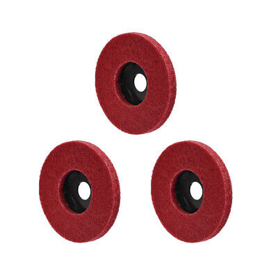 5 Inch Polishing Wheel Buffing Pad Felt Disc For 100 Angle Grinders Red 3pcs • 6.22£