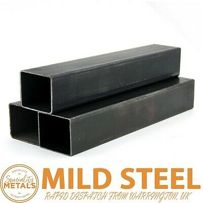 MILD STEEL BOX SECTION 20MM To 100MM 1M To 2M LENGTHS UK MADE & RAPID DISPATCH  • 10.24£