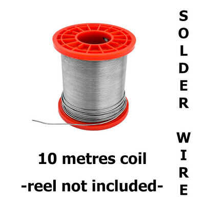 10m Of Solder Wire Tin Lead & Lead Free / Fluxed Core / Hobbyists & Electronics • 13.55£