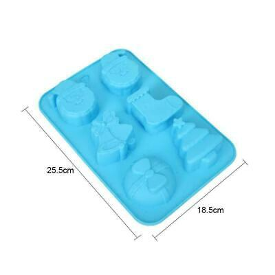 Christmas Gifts Series Six Grid Christmas Socks Silicone Cake Mould W4Z9 O4R4 • 4.13£