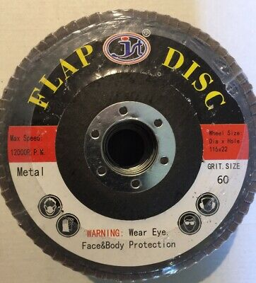 115mm/4.5'' Flap Wheels Grinding Sanding Discs 60 Grit Angle Grinder 1 PEICE  • 3.81£