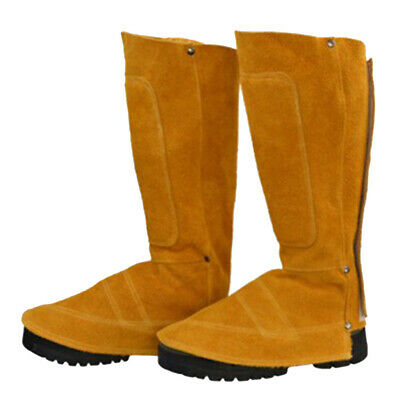 Welding Spats Shoe Cover Leather Welder Working Feet Protector 44cm Height • 18.16£