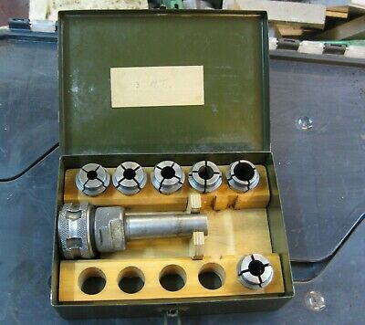 3 Morse Taper Marlco Collet Chuck With Marlco Style 2820 Collets • 30£