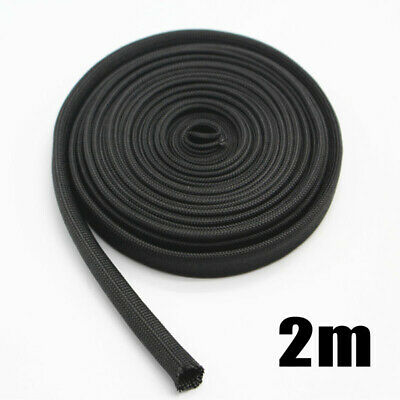 Ignition Systems Woven Sleeve 2m Black Protector Cover Parts Practical • 7.03£