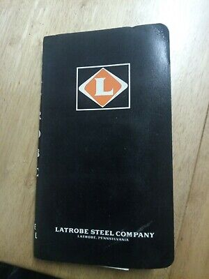 Vintage Latrobe Steel Company Reference Book • 10£