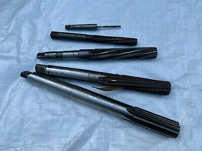 A Bundle Of 5 Imperial Reamers Morse Taper And Hand Held. • 8£