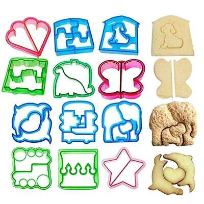 12pcs Sandwich Cutter Butterfly Flower Shape Cake Bread Mould Maker Toast T0I9 • 8.49£