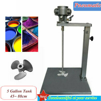 Pneumatic Paint Mixer 5 Gallon W/ Stand For Tank Barrel Stainless Steel Mix Tool • 92.02£
