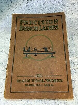 Vintage 1920s? Elgin Tool Works Precision Bench Lathes Catalogue From USA • 25£