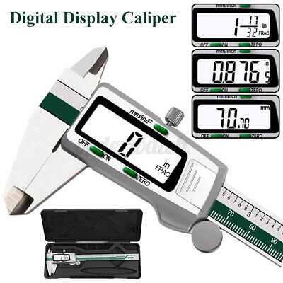 6  150mm LCD Digital Vernier Caliper Micrometer Gauge Measure Tool Gauge Measure • 15.96£