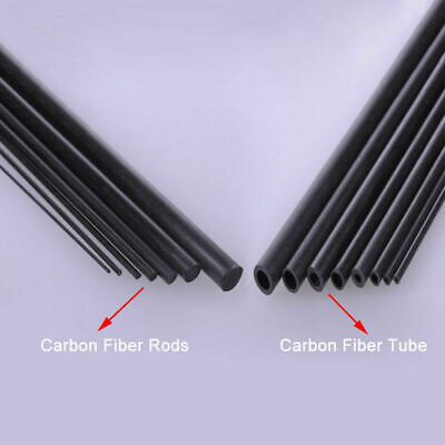 Carbon Fiber Tube & Rods Round For RC Airplane 1.8mm 2mm 3mm 6mm You Pick Sizes • 18.19£
