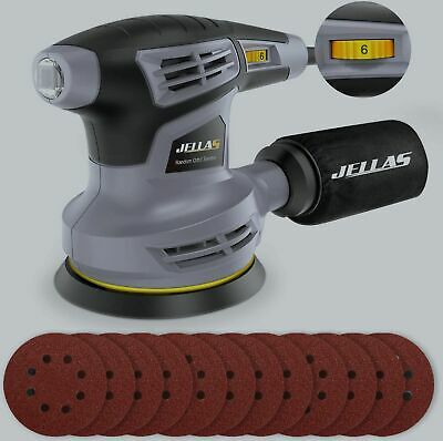 Jellas Orbital Sander, 280W 125MM Sander Machine With 13000RPM 6 Variable Speed • 70.68£