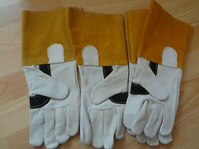 2 Pairs TIG Welding Gauntlet Gloves . Size Large • 9.95£