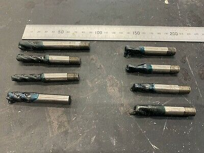 Bundle Of 8 X Used Milling Cutters With Gel Still On Look Okay • 18£