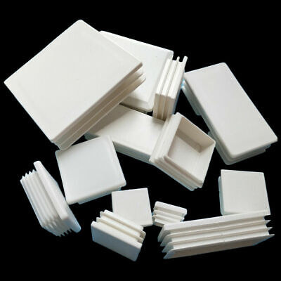 White Plastic Rectangle Blanking End Caps Cap Tube Pipe Inserts Plug Bung Steel • 36.73£