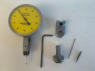 Mercer Eng Type 309 Precision Engineers Gauge 0.002mm - Boxed + Working • 10.99£