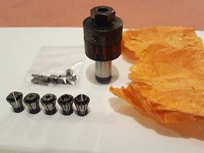 PAFIX 350001 ADJUSTABLE TAPPING CHUCK + COLLETS & DRIVERS (2 TO 8mm DIA THREADS) • 95£