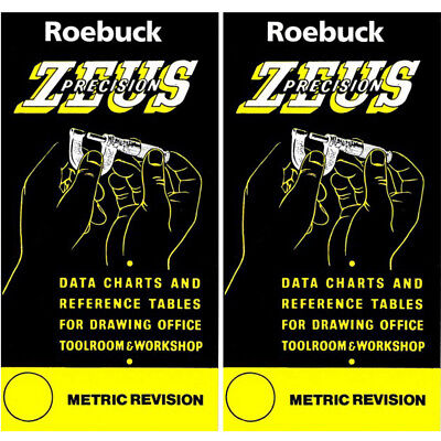 Zeus Precision Engineers Metric Data Book Chart Charts Reference Tables X 2 • 10.24£
