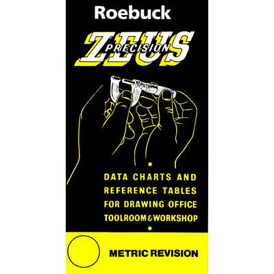 Zeus Precision Engineers Metric Data Book Chart Charts Reference Sizes Tables • 5.39£