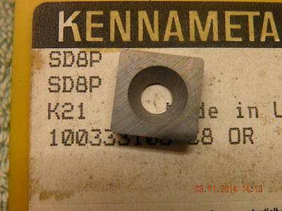 X1 OFF KENNAMETAL SHIM OR HSS INSERT SD8P K21 KENNAMETAL SEATING NEW • 4£