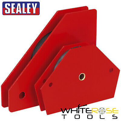 Sealey Magnetic Quick Clamp Set 2pc Metal Holder Welding Arrow Clamps Angled • 18.75£