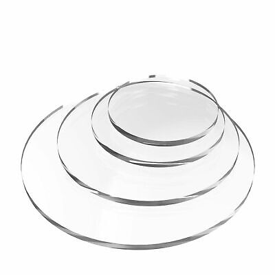 Clear Acrylic Perspex® Round Circular Plastic Discs - 5mm Thick Various Sizes • 34.72£