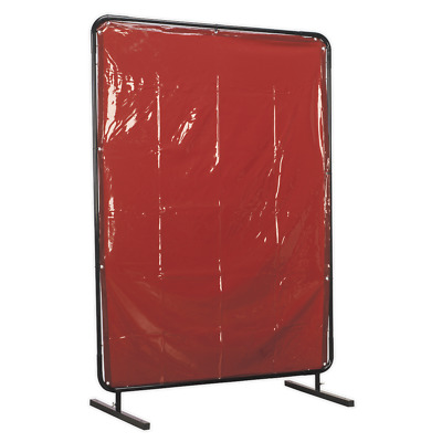 SSP99 Sealey Workshop Welding Curtain To BS EN 1598 & Frame 1.3 X 1.75mtr • 154.43£