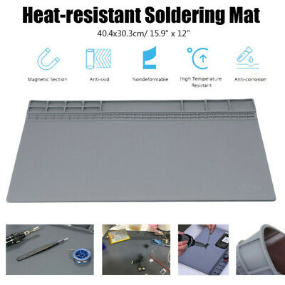 1* Silicone Workbench Desk Heat Resistant Insulation Mat Soldering Pad Durable • 14.53£