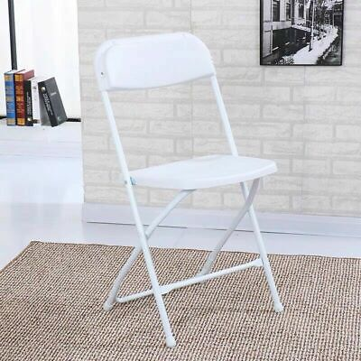 2 X Pieces Portable Folding White Chairs Collection Only • 16£