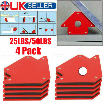 25lb 50lb Small Welding Magnet X 4 Right Angle Square Holder Soldering Durable • 12.49£