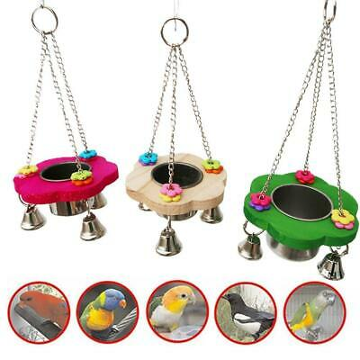 Pet Food Bowl Toy Birds Drinker Feeder For Parrot Cockatiel Cage Accessories • 5.69£