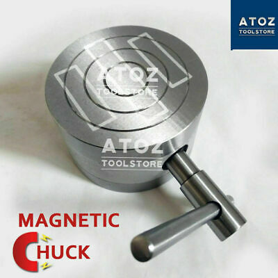 4  Heavy Round Permanent Magnetic Chuck 100mm Strong Workholding UK SHOP • 105.60£