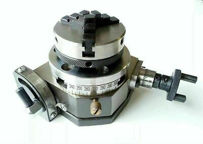 3  Tilting Rotary Table+ 4 Jaw Self Centering 50mm -2  Chuck+ Back Plate UK SHOP • 208£