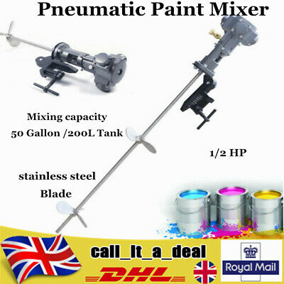 Pneumatic Paint Mixer Ink Mixing Machine Paint Blender Agitator 200L 50 Gallon • 149.02£
